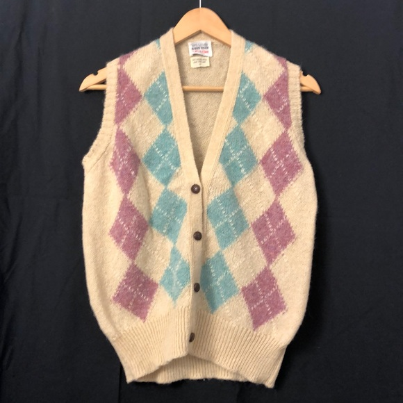 Vintage Harry Rosen Wool Argyle Sweater Vest